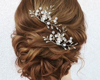 Wedding hair pin, Bridal hair pin, Pearl Hair pin, Crystal hair pin, Pearl hair pins, Wedding hair pins, Bridal hair pins