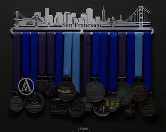 San Francisco Cityscape - Allied Medal Hanger Holder Display Rack