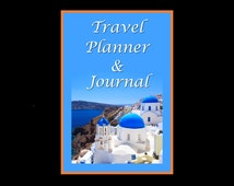Travel Planner & Travel Journal, PDF Instant Download, Comprehensive Book for Important Traveling Plans/Notes and Memories for the Traveler