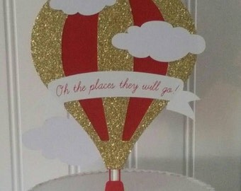hot air balloon cake topper hot air balloon cake silver gold glitter party decor