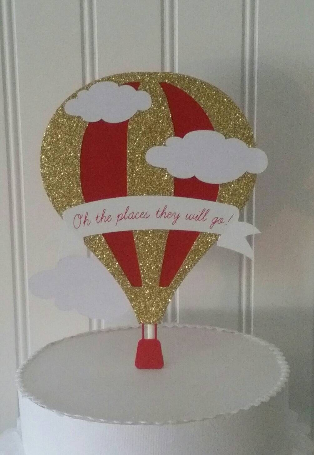 Hot air balloon cake topper hot air balloon cake silver for Balloon cake decoration