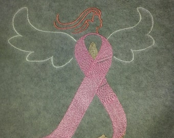 BREAST CANCER AWARENESS Angel Fleece Scarf
