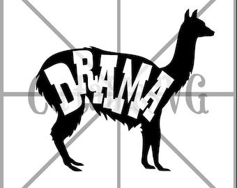 Drama Llama Cut File / Printable