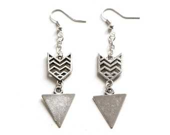 Chevron and Triangle Earrings