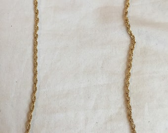Vintage Heavy Thick Rope Twist 12k Gold Filled Chain Necklace