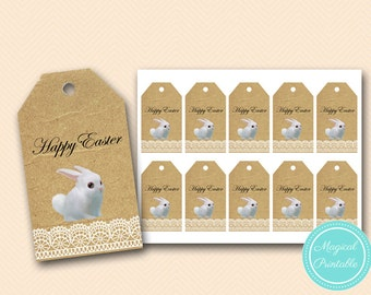 Easter Bunny Thank you tags, Easter Hunt tags, Happy Easter Tags, Easter Rabbit thank you tags, labels, instant download PNN05