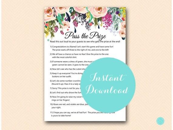 game poem pink blush bridal shower game pink floral bridal shower