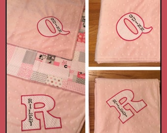 Quilted Baby Blanket Personalized (Ubby)