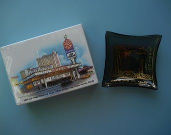 The Mint Hotel and Casino Ashtray ~ Plus ~ Slots A Fun Casino Unopened Deck of Cards ~ Las Vegas