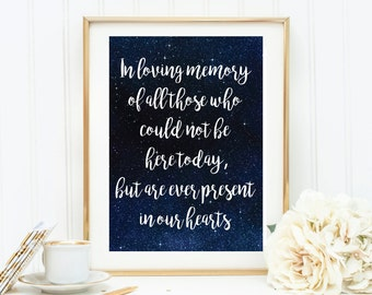 Wedding Family Memory Print