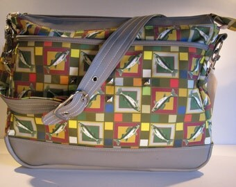 Grey Checkerd Walleye Tackle Bag