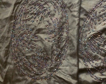 Antique edwardian beaded panels for salvage or repurposing