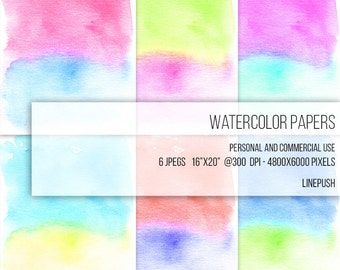 SALE! Watercolor Papers. Digital papers. Watercolor backgrounds, Neon Colors. Stained background Textured Abstract Art modern minimalist