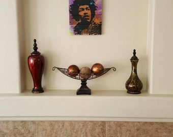 Wall Art Home Decor Jimi Hendrix on Reclaimed Wood Recycled by the Karma Farmers