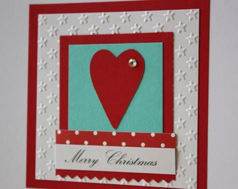 Personalised Heart Christmas Card