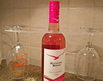 Acrylic Blanks, Acrylic Wine Caddy Blank, Acrylic Wine Butler, Personalized Wine Caddy, Wine and Glass Holder