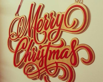 Wooden Merry Christmas Wall hanging