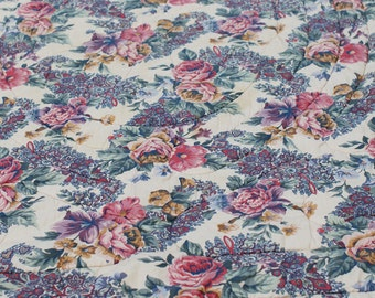 Vintage Twin Size, Quilted & Reversible Floral Comforter
