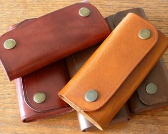 SCKLeather Handmade Veg Tan Leather Key Case