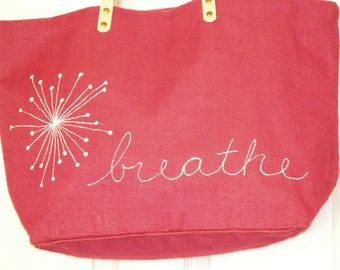 Hot Pink Jute Tote,Carry All