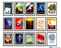 NASA Exoplanet Travel Posters / Prints - Pick and Mix Selection - JPL