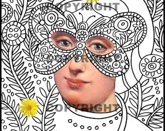 Garden Camouflage/Coloring book page
