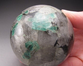 Emerald in Matrix Sphere, Bahia, Brazil