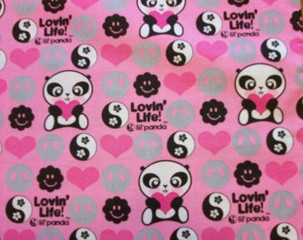 "LITTLE PANDA PILLOWCASE  Toddler/Travel Size  14"" X 20"""