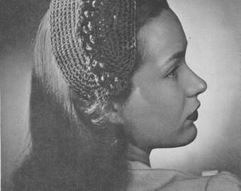 362 Hat and Belt set crochet pattern, Women's Belt Crochet Pattern, Ladies Hat Crochet Pattern,  PDF Download, Vintage 1940's