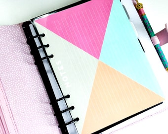 Double Sided Laminated Note List Dashboard /Divider : GEO Patterns - For A5 Planner Accessories Re-Usable Page Marker Bookmark Insert