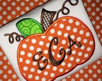 Pumpkin Applique Ruffled Shirt