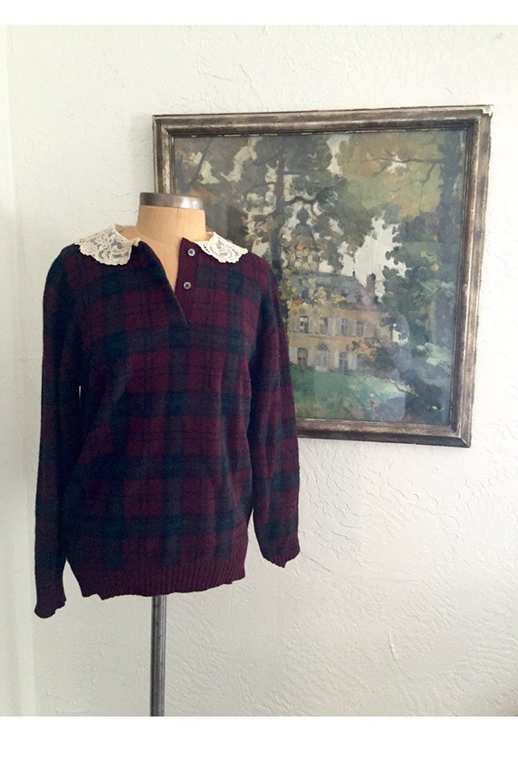 Vintage Ralph Lauren Plaid Sweater