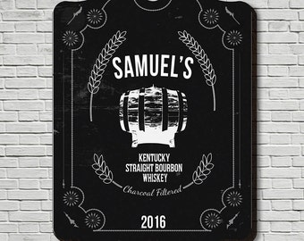 Whiskey Custom Wooden Bar Sign - Black Wall Decor and Gifts, Home Bar Man Cave Sign, Perfect Gifts for Fathers Day Gifts, Personalized Gifts