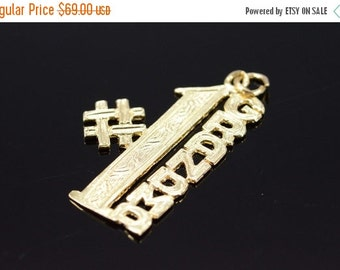 ON SALE 14K #1 Number One Grandma Cut Out Charm/Pendant Yellow Gold