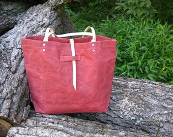 Desert Clay Waxed Canvas Tote