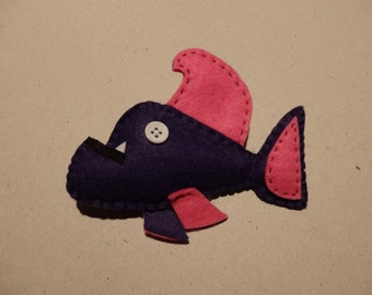 Felt Fish Pin Brooch