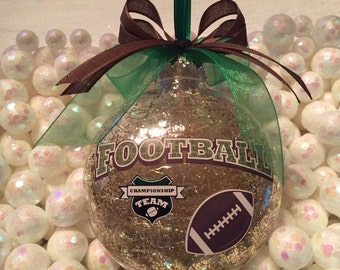 Football Ornament, Sports Ornament, Christmas Tree Ornament, Holiday Ornament, Keepsake Ornament, Football, Sports Gift