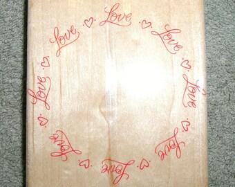Hero Arts Love Circle Rubber Stamp