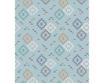 Crib Sheets-To Catch a Dream-Cotton Fabric-Quilting Fabric-Lewis & Irene-Blue-Geometric-Fitted-Toddler Bed Sheet-Mini Crib Sheet