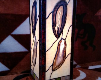 "Agate Stained Glass Lamp ""Itacoatiara"""