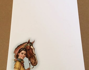 Notepad - Cowgirl & Horse