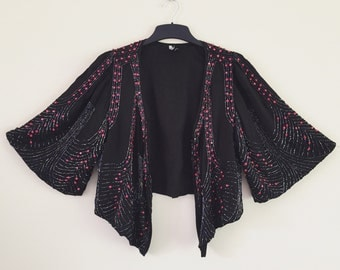 90's does 30's Heavily Beaded Jacket