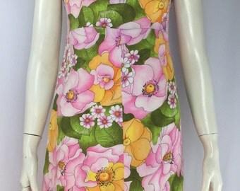 60's Floral Mini Dress Size x-small/Small