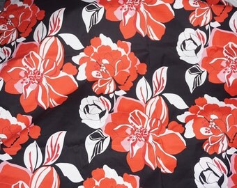 Bright Floral Apparel Cotton Fabric Shirting Imported Red Flowers  BFab