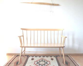 Wooden bench made of beech