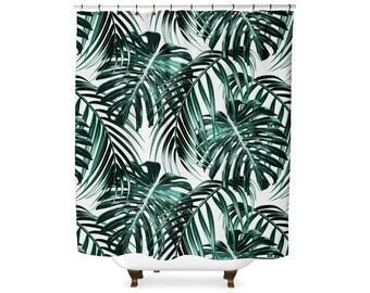 Leaf shower curtain | Etsy