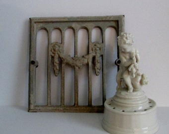 Barbola Antique Heat Grate, Swags, French Decor, Paris Apartment, Cottage Chic
