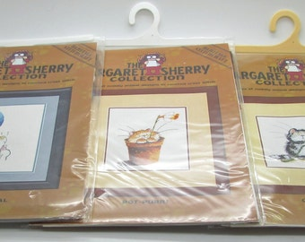 Heritage Stitchcraft The Margaret Sherry Collection Counted Cross Stitch Cul -Purr-It Party Animal Pot Purri Cat Mouse