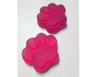 4 Pink Paw Print Hand and Body Soap