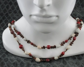 Vintage African Seed Bead Necklace